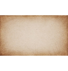 Realistic brown cardboard stained texture vector