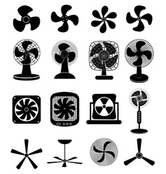 Fans icons set vector