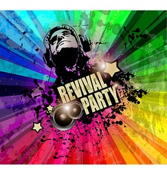 Party club flyer for music event with explosion of vector