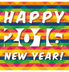 Happy new year colorful card vector