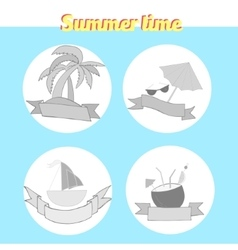 Summer beach travel logo vector