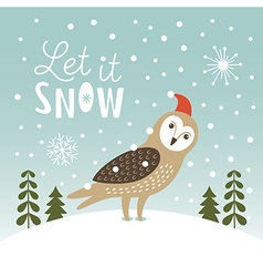 Let it snow christmas vector