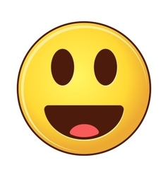 Smiling emoji with tongue cartoon style smiles vector