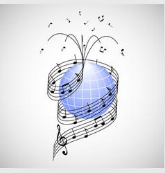 music around the world vector image