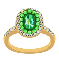 Emerald golden ring vector