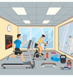 Fitness and gym concept vector