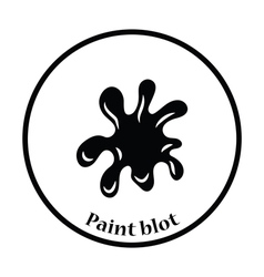 Paint blot icon vector