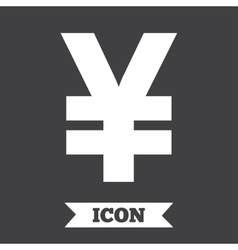 Yen sign icon jpy currency symbol vector