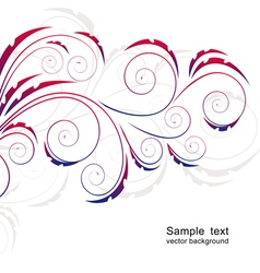 Abstract background with curls vector