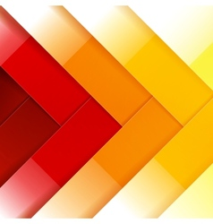 Abstract red orange and yellow shiny rectangle vector