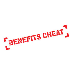 Benefits cheat rubber stamp vector