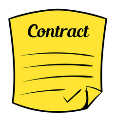 business contract icon cartoon vector image