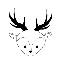 Cute deer icon vector