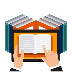 E-book technology vector
