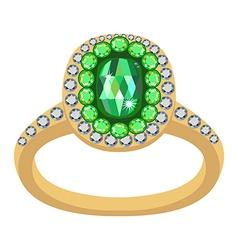 Emerald golden ring vector