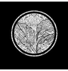 Floral logo 01 grunge vector