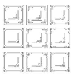 Frames borders art deco style vector