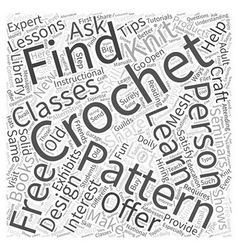 Free crochet doily patterns word cloud concept vector