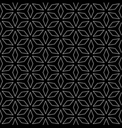 Geometric monochrome texture rhombuses vector