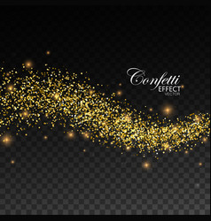 glittering golden stream of sparkles vector image