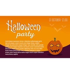 Greeting card or invitation Halloween party vector image vector image