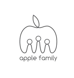 happy apple family design template vector image vector image