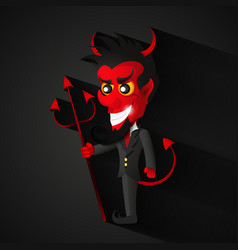 Imp of halloween vector