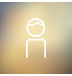 Male thin line icon vector image