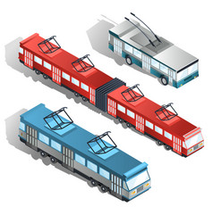 modern city transport isometric collection vector image