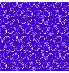 plum pattern vector image vector image