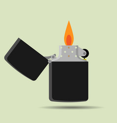 Pocket lighter icon in flat style vector
