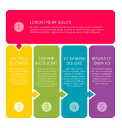 process steps business concept vector image