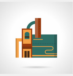 Recycling factory flat color icon vector