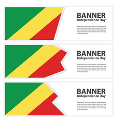 Republic of the congo flag banners collection vector