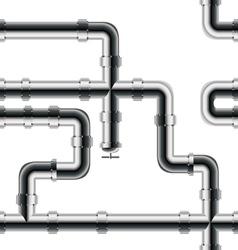 Seamless metal pipe pattern vector image