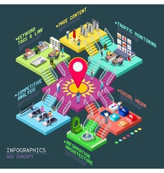 SEO Concept 3D Isometric vector image vector image