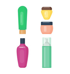 Set of cosmetic tubes isolated vector