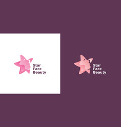 star face abstract sign emblem or logo vector image
