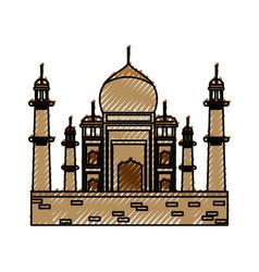 Taj mahal monument vector