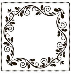 vintage frame banner with patterns vector image vector image