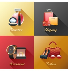 Women Shopping Design Concept vector image