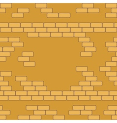 Yellow brick wall seamless background - texture vector