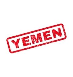 Yemen rubber stamp vector