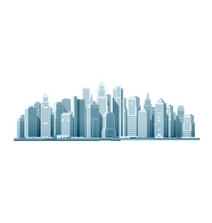 Modern city with skyscrapers construction vector