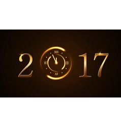 Happy new year background gold vector