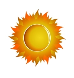 Large aggressive orange sun vector
