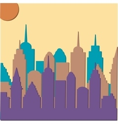 Morningt cityscape background vector