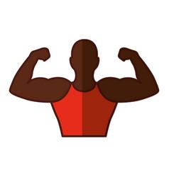 Strong man human figure vector