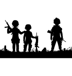 Child soldiers vector