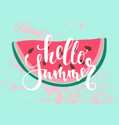 Print with watermelon the inscription vector
